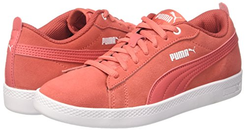 spiced Sd V2 Zapatillas Coral Para spiced Smash Coral Wns Mujer Rojo Puma ZwqHF88
