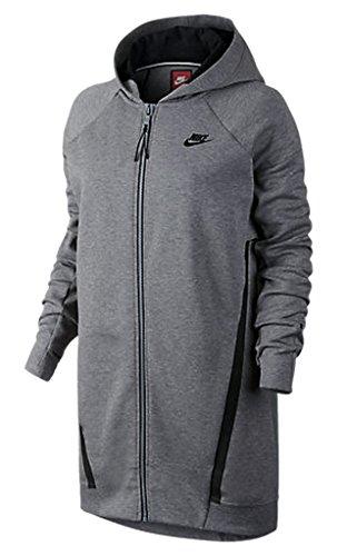 Nike women's Tech Fleece Cocoon Mesh FULL ZIP LONG Hoodie (M)