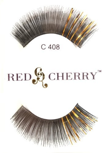 6 Pairs of Red Cherry Color False Eyelashes