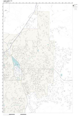 Amazon.com: ZIP Code Wall Map of Apple Valley, CA ZIP Code Map