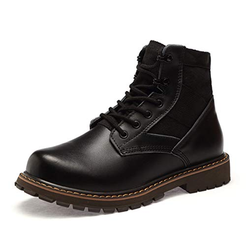 Phil Betty Mens Martin Boots Round Toe Lace Up Waterproof Wear-Resistant Desert Boots