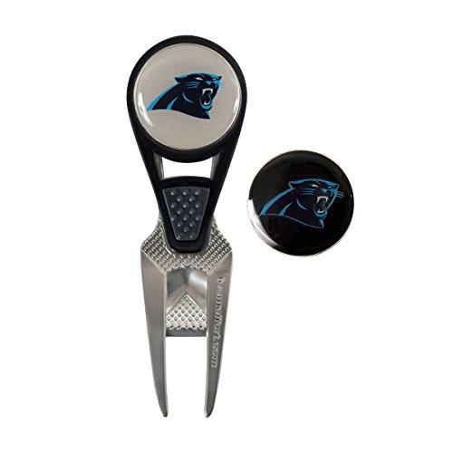 Team Effort NFL Carolina Panthers CVX Ball Mark Repair Tool & 2 Ball Markers