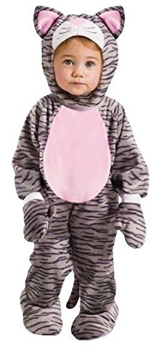 Fun World Grey Stripe Kitten Infant Costume, Small, 6-12 Month. -