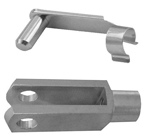 1 Stü ck - Gabelkopf 8x32 - M8 mit Sicherungsbolzen + Kontermutter FKAnhängerteile
