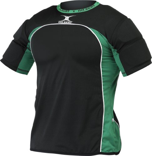 - Gilbert Atomic Rugby Shoulder Protector (Black, Small)