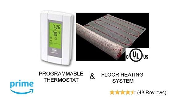 Amazon.com : 20 Sqft Mat, Electric Radiant Floor Heat Heating ...