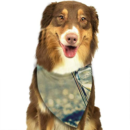 Pet Scarf Dog Bandana Bibs Triangle Head Scarfs Beach Hourglass Accessories for Cats Baby Puppy -