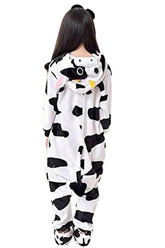 Babyonlinedress Pijama de niño de una pieza con diseño de anime sudadera de disfraz de cartoon holgado y cómodo con capucha Vaca