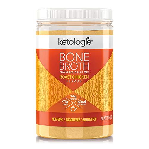 Ketologie Powdered Collagen Bone Broth l 360g Jar (Roast Chicken)