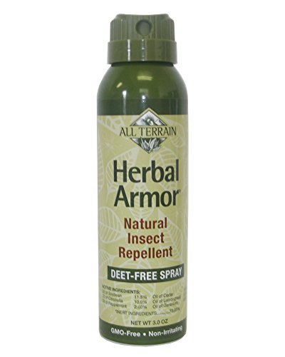 All Terrain DEET-Free Herbal Armor Insect Repellent, 3 Ounce, Safe for Kids, Sensitive Skin, Effective Bug Spray Formula with Natural Essential Oils, Great for Travel, Camping, Outdoor Activities