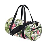 Tropical Plant Sports Gym Bag Travel Duffel Bag with Pockets Luggage & Travel Gear Shoulder Strap Fitness Bag