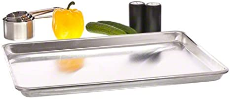 1060 Alum Cold Roll Not Coating Update International ABNP-66 15.75x21.75x1 Aluminum Bun Pan