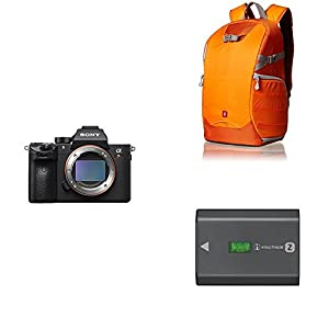 Sony a7R III 42.4MP Full-frame Mirrorless Interchangeable-Lens Camera + Trekker Camera Backpack + Rechargeable Battery Pack by Sony