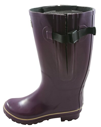 Jileon Extra Wide Calf Rubber Purple Rain Boots for Women-Widest Fit Boots in the US-up to 21 inch calves-Wide in the Foot and Ankle-Durable Boots for All Weathers- 7 (XW) by Jileon