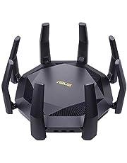 ASUS RT-AX89X Gaming Router (Ai Mesh WLAN System, WiFi 6 AX6000, 10G RJ45, 10G SFP+, 2,2 GHz QC CPU, AiProtection Pro, USB 3.1, WPA3)