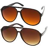 Retro 80s Vintage Blue Blocking XL Large Plastic Aviator Sunglasses, 2-Pack