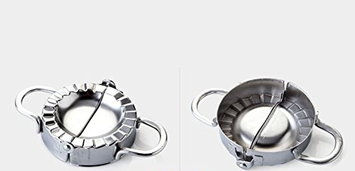 Elome Stainless Steel Pastry Dough Press and Dumpling Ravioli Gyoza Pierogi Empanada Mold Maker Wrapper Cutter, Set of 2 by Elome (Image #2)