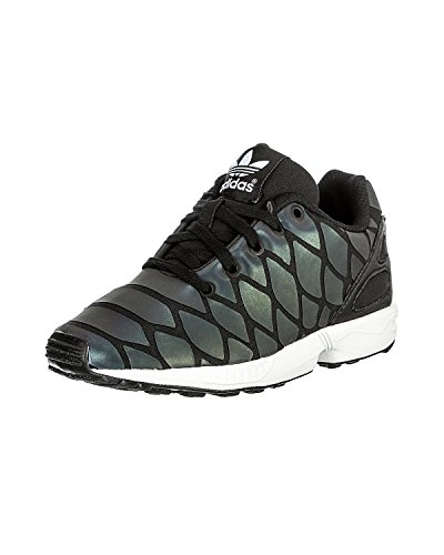 Black Youth Xeonpeltis ZX Adidas Originals Trainers Noir Mesh Flux wzOxgR