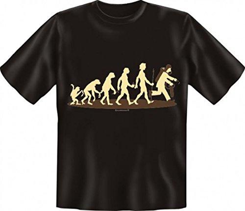 Witziges T-Shirt für Feuerwehrmänner - Evolution Feuerwehr - FFW Funshirt für Retter
