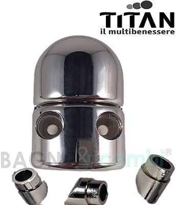 Titan Recambio Cremallera Cromo cadap1cr02 mampara de Ducha: Amazon.es: Hogar