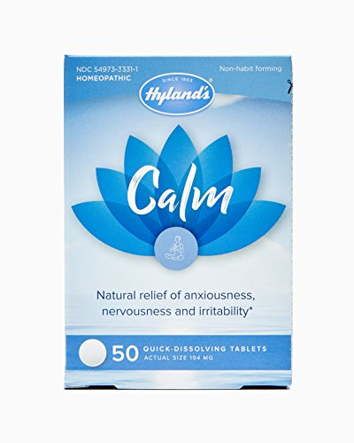 - Hyland's Calm Tablets, Natural Relief of Anxiousness, Nervousness, and Irritability, 50 Count
