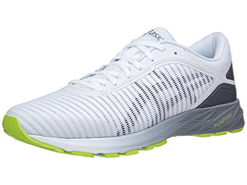 ASICS T7D0N Men's Dynaflyte Running Shoe, White/Black/Stone Grey - 10