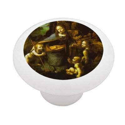 The Virgin of the Rocks by da Vinci Ceramic Drawer Knob