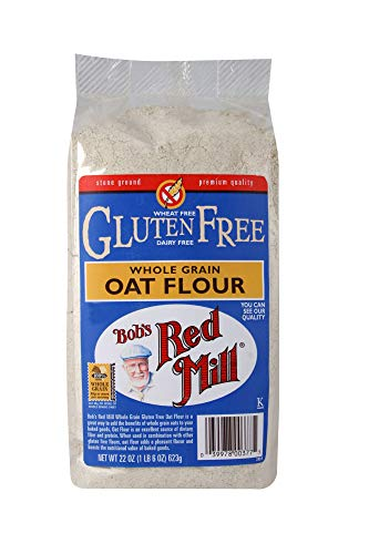 Bob's Red Mill Gluten Free Oat Flour, 22 Oz (4 Pack) (Wheat No Flour)