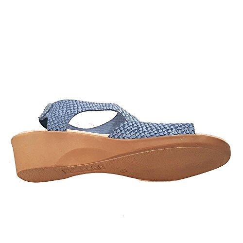 Sandalia piel marino tira subida empeine. Talla 39