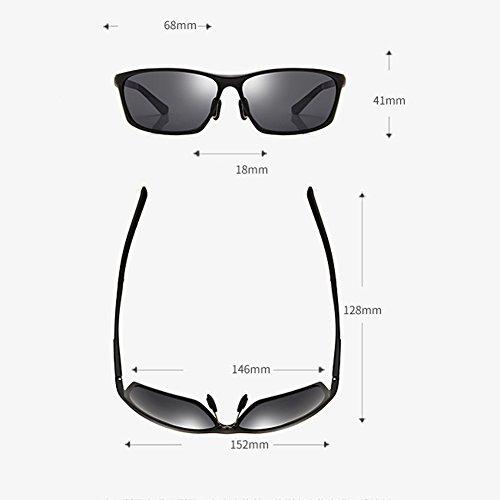 sol ultraligeros Negro cómodos los Polarizadores Drive Gafas conductores de Drive de de Gafas hombres de sol retro Gafas los de sol qpxRX6w4x