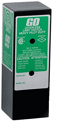 GO Switch 11-12510-00 CSA/FM CL1 Div 2 Exp-Proof, 14 mm Sensing Distance, 10A/120VAC, Limit Switch Style, 1/2