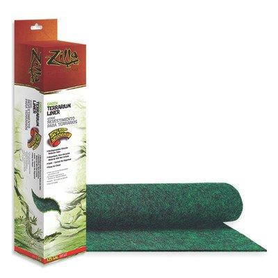 (2 Pack) Zilla Reptile Terrarium Bedding Substrate Liner, Green – 29 Gallon