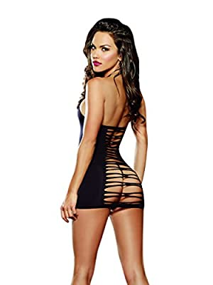 Dreamgirl Women's Seamless Studded Fetish Halter Dress