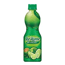 ReaLime 100% Lime Juice, 8 Fluid Ounce Bottle 6 One 8 fluid ounce bottle 100% lime juice from concentrate Great for use in recipes, meat marinades, and salads