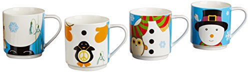 - Maxwell & Williams Kris Kringle 14.5-oz. Snowman Mug - Set of 4 -  Gift Boxed
