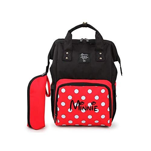 Personalized Large Diaper Bag Knapsack/Tote Bag/Backpack/Messenger Bag/Shoulder Bag -Minnie Mouse Custom Monogram Embroidered for Infant/Baby Bag/Baby Gift -