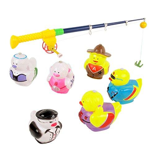 Fenteer 磁気釣り玩具 釣りゲーム 釣りロブ 子ども 磁気 釣りバスおもちゃ 4サイズ選ぶ - 7個