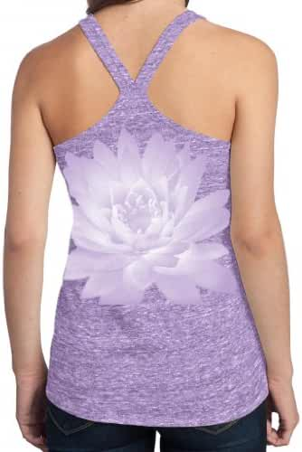 Yoga Clothing For You Ladies Lotus Flower T-back Tank Top