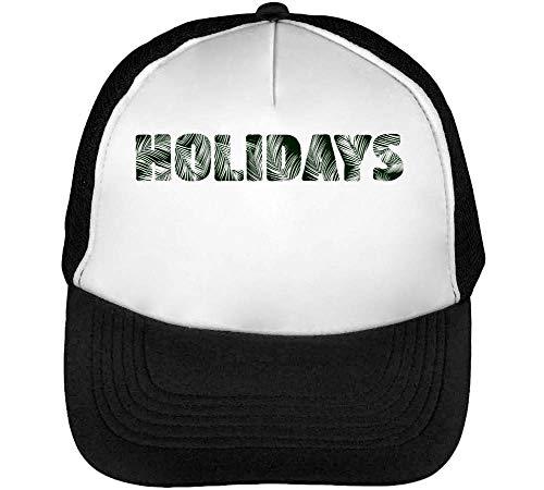 Holidays Gorras Hombre Snapback Beisbol Negro Blanco