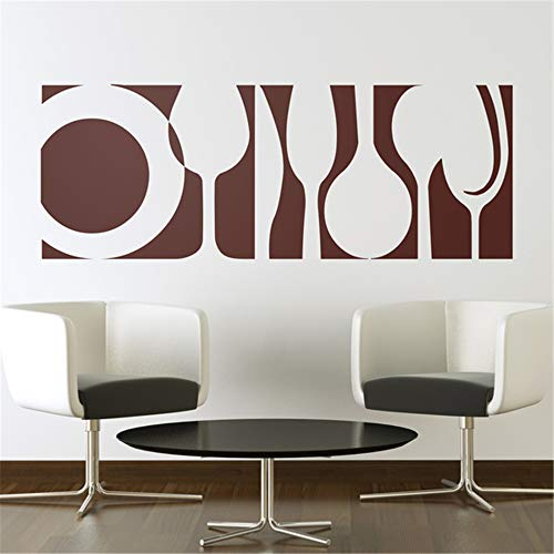 masern Wall Decor Stickers for Living Room Kitchen Wall Sticker Kitchen Crockery Plates and Cutlery for Kitchen ()