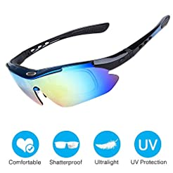 Amabest Cycling Glasses with 3 Interchan...