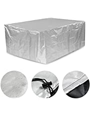 Patio Furniture Cover Set Waterproof, Outdoor Table Covers Square Waterproof, Patio Table Covers for Outdoor Furniture Rectangle, Oxford, for All Weather