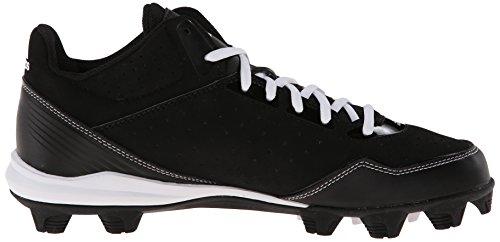 Adidas Performance Mens Timone Mid Baseball Tacchetta Core Nero / Bianco / Metallico / Argento