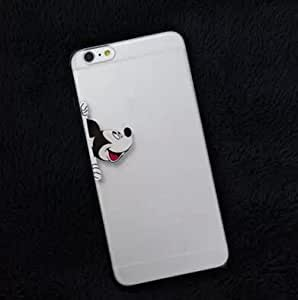 2015 Unique Cute Cartoon Mickey Mouse Hide and Seek Pattern 3D Transparent TPU Silicon Back Case Cover for IPhone 5 5S