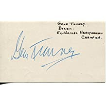 Gene Tunney Autographed Photo - Boxer Heavyweight Champion Legend Card - Autographed Boxing Photos