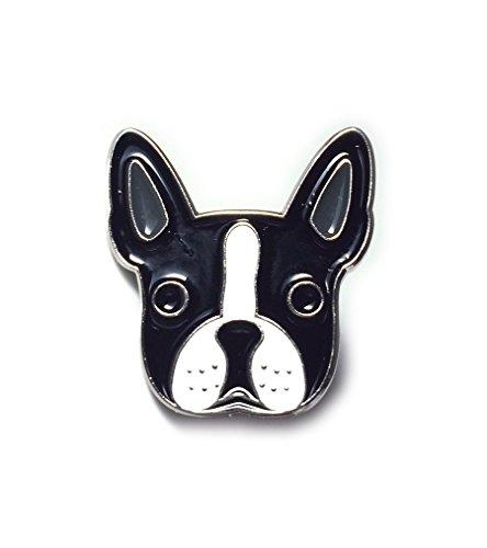 Boston Terrier Enamel Lapel Pin for Men Women