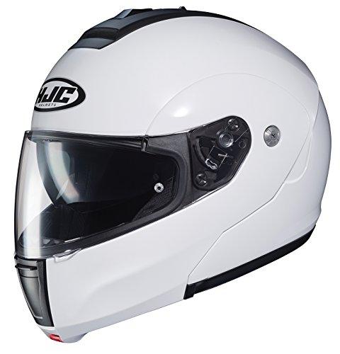 (HJC Helmets Unisex-Adult flip-up-Helmet-Style CL-MAX3 Solid White X-Large)