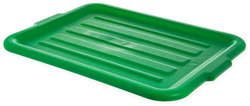 Carlisle N4401209 Comfort Curve Bus Box/Tote Box, Universal Lid, Green (Pack of (Curve Box)