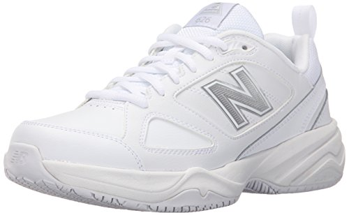 (New Balance Women's WID626v2 Work Training Shoe, White, 8 2E US)