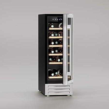 Maison Cavist CVSTXV3 Vinoteca 18 Botellas, 58 Litros, Ultra Silenciosa, Acero Inoxidable, Plata